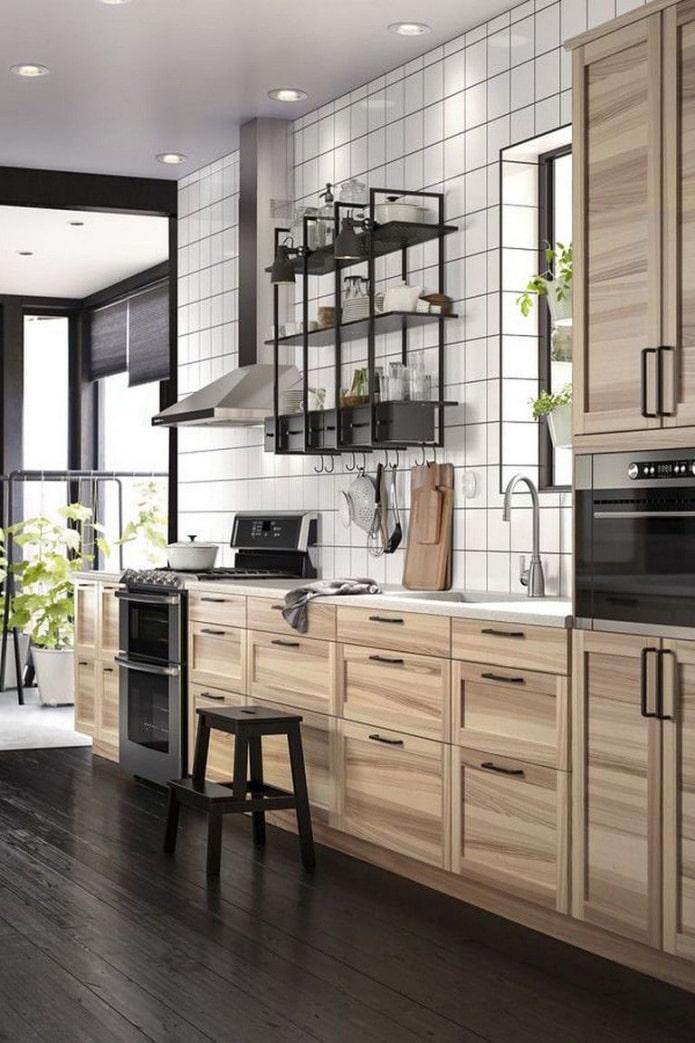 кухня икеа массив дерева