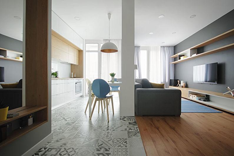 Зонирование кухни-гостиной - Отделка