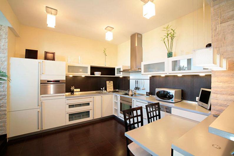 Матовые натяжные потолки для кухни