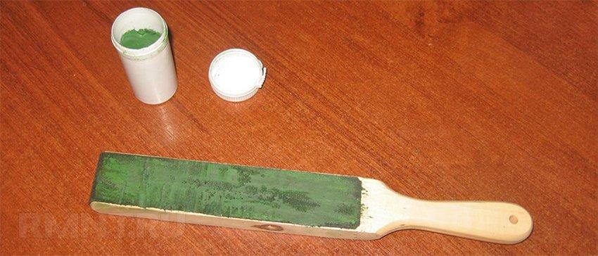 Правка ножа с помощью пасты ГОИ