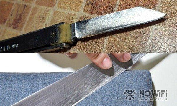 как подготовить ножи к заточке