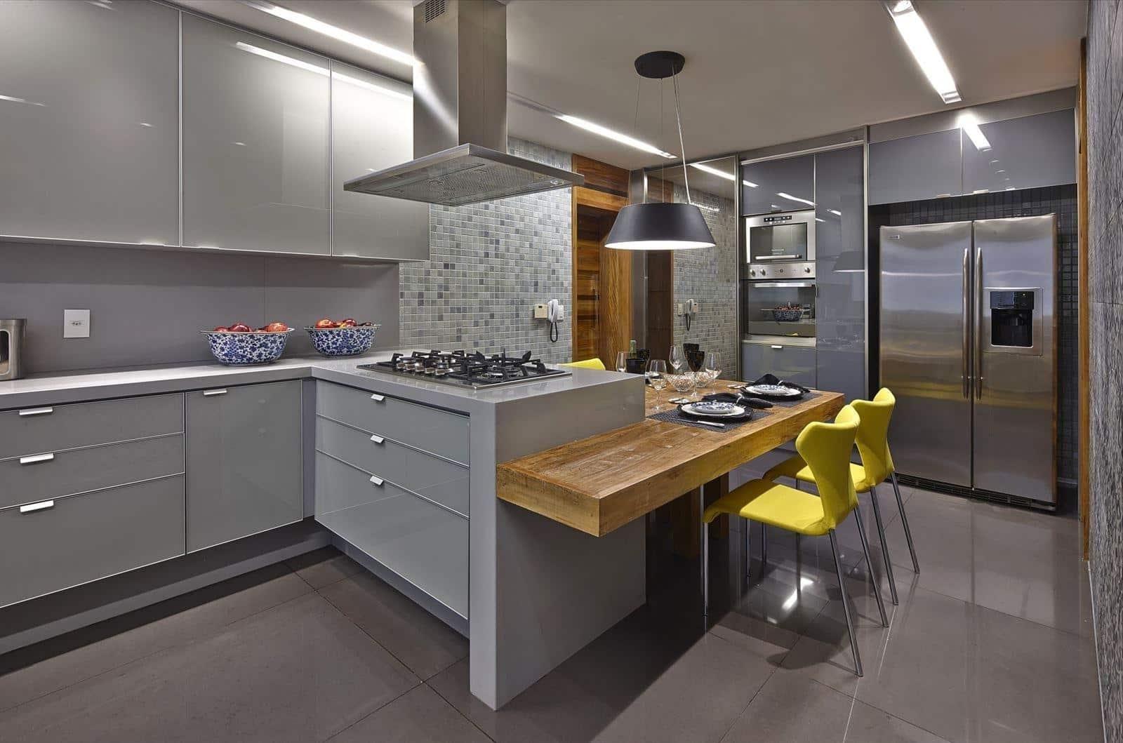 Глянцевая столешница из акрилового камня - универсальное решение для любого кинтерьера кухни