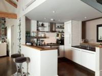 Барная стойка для кухни — архитектура и дизайн модного кухонного элемента + 68 фото