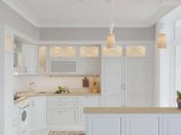 Белый цвет в интерьере кухни — Лучший способ для зрительного увеличения пространства +88 фото