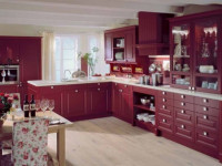 Бордовый цвет в интерьере кухни — Стильные идеи оформления 2019 года + 78 фото