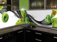 Фартук для кухни из стекла — какой выбрать? 70 фото идей сочетания в интерьере!