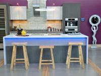 Фиолетовый цвет в интерьере кухни — Оригинальный интерьер на красивых примерах + 75 фото