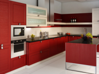 Красный цвет в интерьере кухни — Яркие идеи оформления современного интерьера (87 фото)