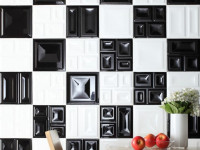 Черно-белая кухня — Стильный дизайн 2021 года (89 фото новинок)