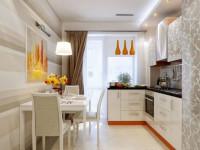 Кухня с балконом — правила идеального зонирования на 95 фото!