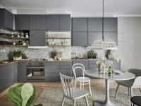 Серый цвет в интерьере кухни — Строгий дизайн в современном исполнении +89 фото