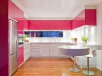 Кухня в коралловом цвете — Изящный интерьер в современном стиле (95 фото)