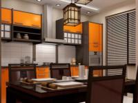 Кухня в японском стиле — яркий, компактный минимализм и высокие технологии (87 фото)