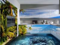 Наливной пол на кухне — как это делается? 80 фото-идей по украшению и оформлению