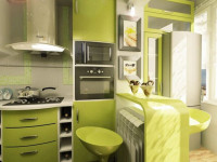 Оливковый цвет в интерьере кухни — Стильное оформление в мягких тонах (89 фото)