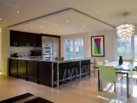 Потолок из гипсокартона на кухне: обзор популярных видов, и фото новинки по дизайну!