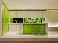 Салатовый цвет в интерьере кухни — Оживленный интерьер в современном доме + 84 фото