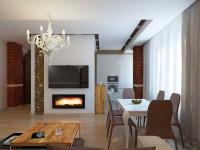 Камин в кухне (50 фото): рейтинг стилей интерьера