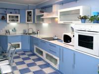 Кухня голубого цвета — Нежный цвет в современном дизайне + 82 фото