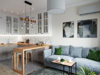 Как сделать красивый дизайн для кухни гостиной 18 кв.м.