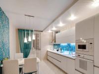 Натяжной потолок на кухне —  варианты дизайна