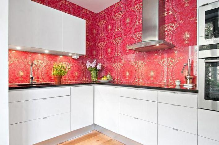 красные кухни в интерьере реальные фото