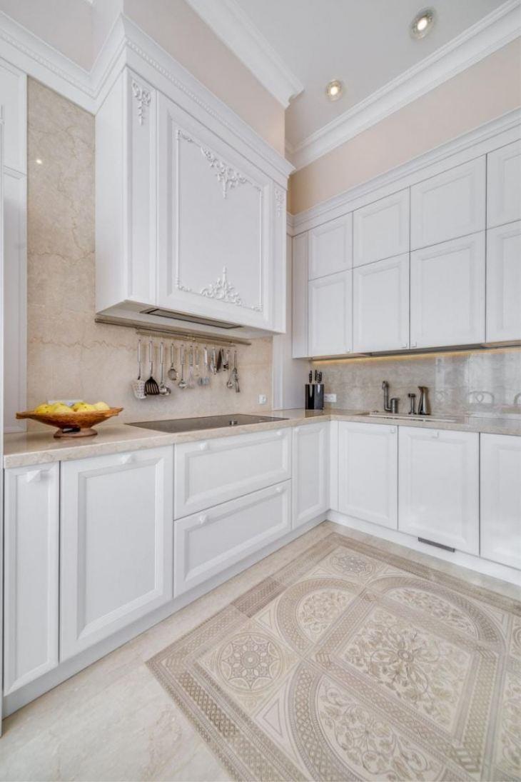 белые кухни в интерьере реальные фото