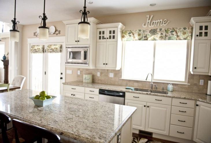 кухня бирюза с белым