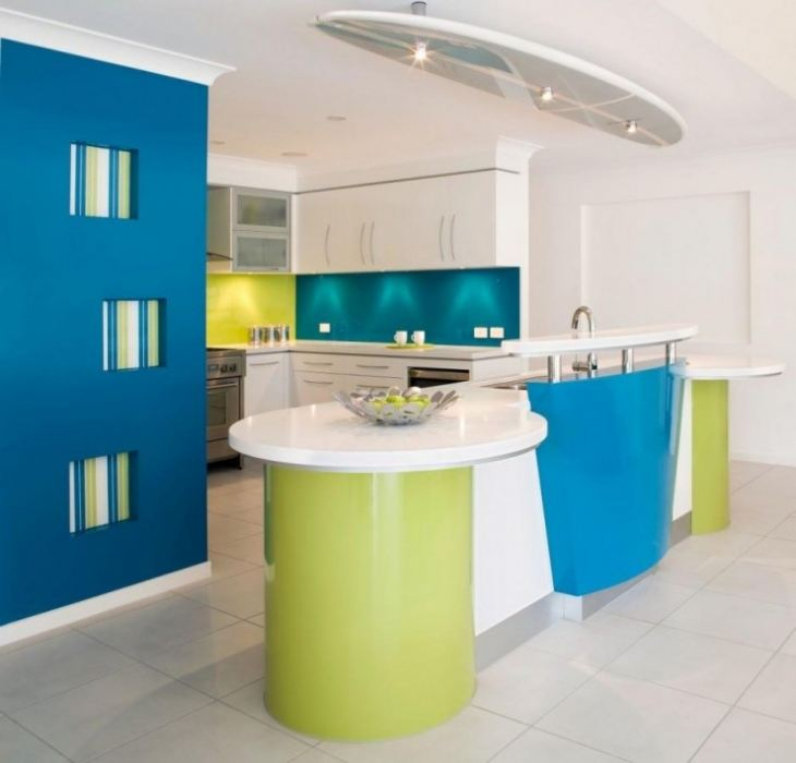 кухни с бирюзовым цветом