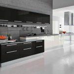 Кухни в черно белом цвете