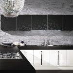 Кухни в черно белом цвете фото