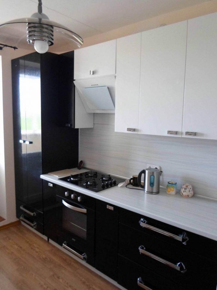 Кухни в бело черном цвете фото