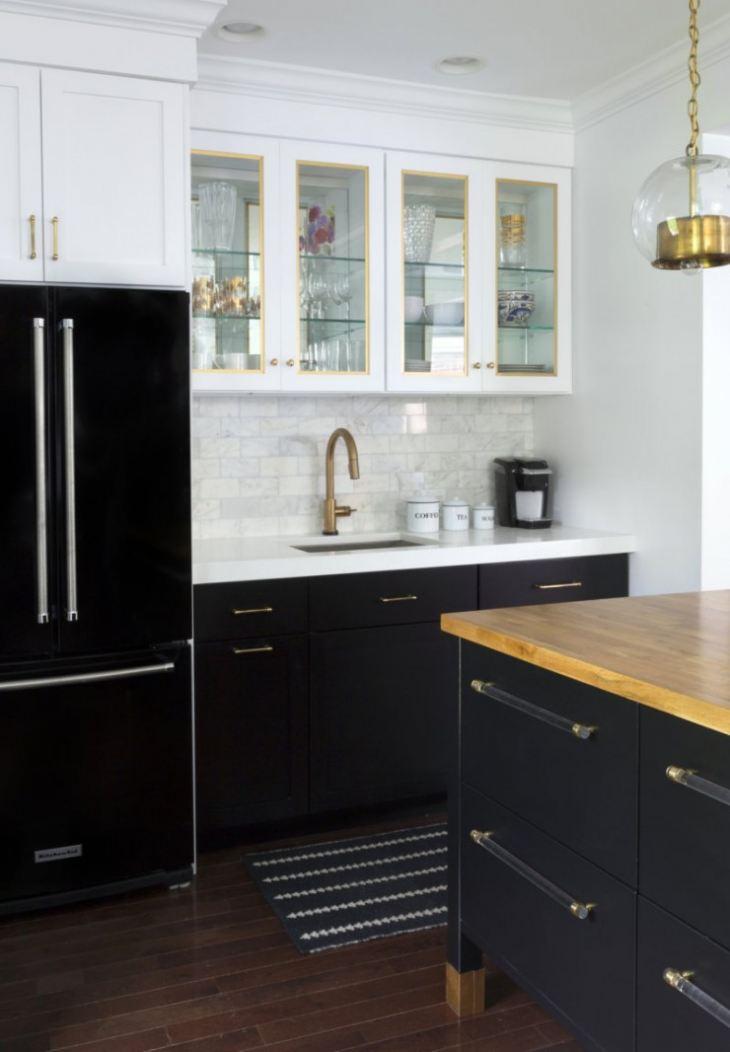 Черно белые обои на кухню фото