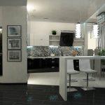 Черно белые кухни фото