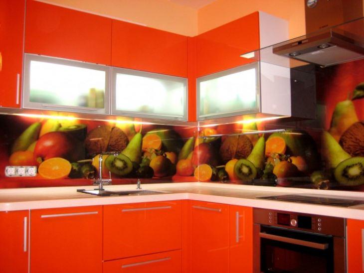 Фото фартуков для кухни из стекла картинки