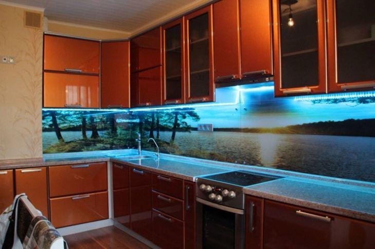 Фартуки для кухни из стекла фотопечать фото