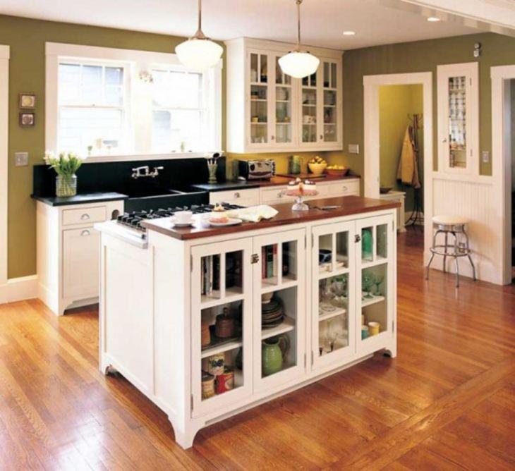 Оформление кухни в частном доме фото