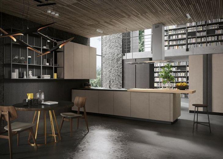 Интерьер большой кухни в частном доме фото