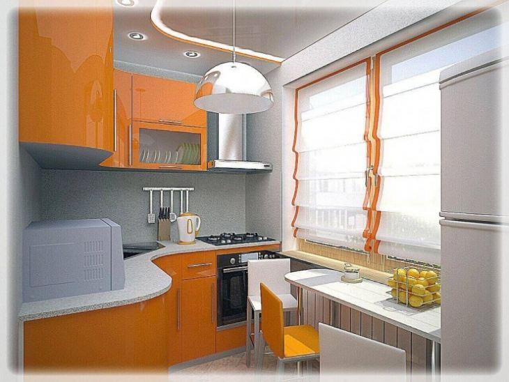 Проект дизайн кухни 6 м