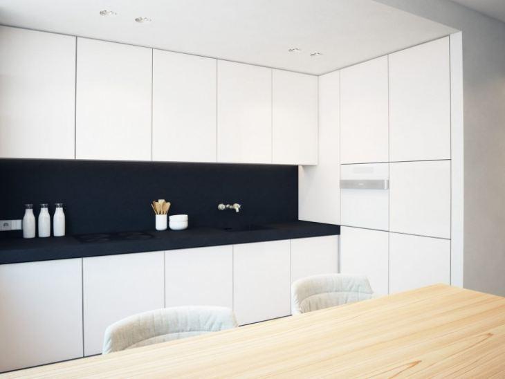 Фото кухни черно белой