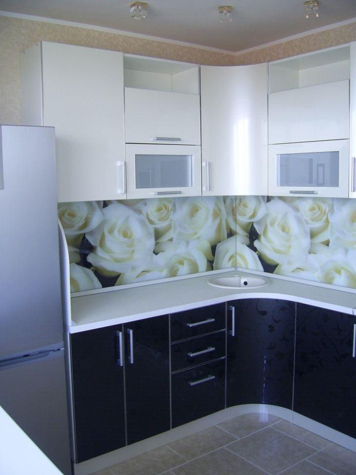 Дизайн бело черной кухни фото