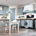 Кухни в голубых тонах