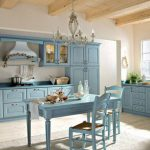 Кухня голубая