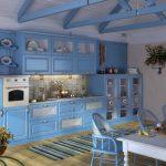 Кухня в сине голубых тонах фото