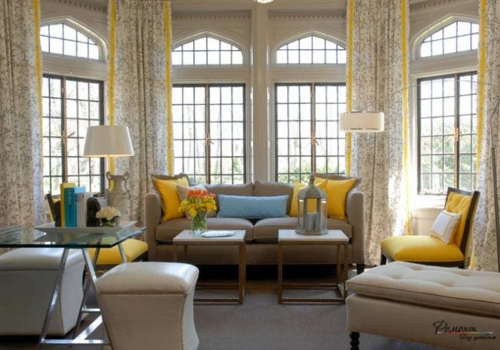 сочетание лимонного с другими цветами