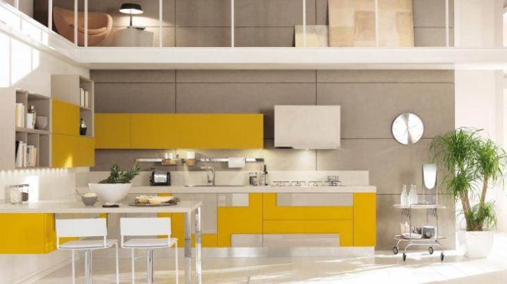 серо лимонная кухня