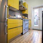 кухня лимонного цвета в интерьере фото