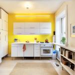 сочетание лимонного цвета в интерьере