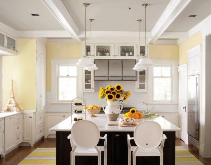 лимонный цвет стен