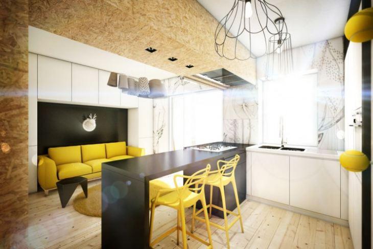 кухня в лимонном цвете фото